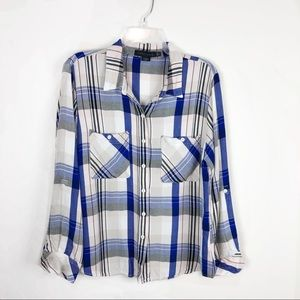 Revolve Sanctuary Boyfriend Plaid Flannel Top
